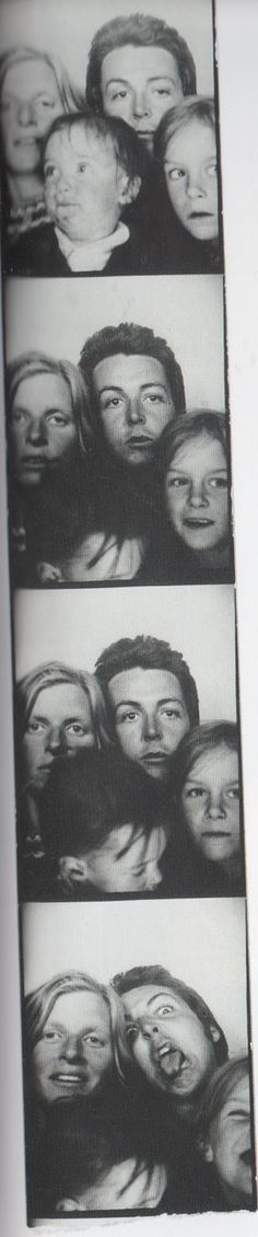 Paul McCartney, Linda Eastman-McCartney and their children (Funny Faces)