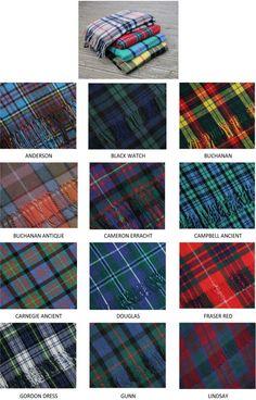 Scottish Tartan Blankets - Clan Tartans