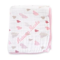 Personalized aden + anais® Heartbreaker Classic Dream Blanket , Add Your Message