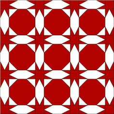 SNOWBALL & STAR QUILT -- Barbara Brackman's MATERIAL CULTURE: National Wear Red Day: A Free Pattern