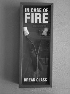 in case of fire.