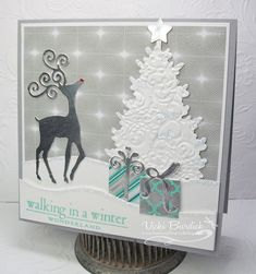 Papertrey In the Meadow Paper: smoky slate, white, winter frost dsp, by justcrazy - Cards and Paper Crafts at Splitcoaststampers