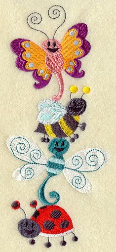 Embroidered Dragonfly Towel - Bubble Bee Towel - Bug Stack -  Flour Sack Towel - Hand Towel - Bath Towel - Apron - Fingertip Towel by misty1718 on Etsy