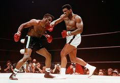Mohammad Ali defeating Floyd Patterson, Las Vegas, Nevada, November, 1965 by Laurence Schiller.