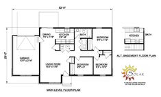 First Floor Plan of House Plan 94493
