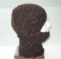 Chestnut Brown Tweed Knit Helmet Liner, Balaclava, or Ski Mask $35.00 MFcrafts.etsy.com - pinned by pin4etsy.com