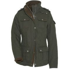 Women's Barbour Utility Force Quilted Jacket - Dark Green (1.075 RON) ❤ liked on Polyvore featuring outerwear and jackets