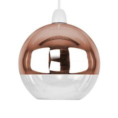 Modern Mirror Copper & Clear Glass Ball Ceiling Pendant Light Lamp Shade Lights for sale Glass Ceiling Light Shades, Globe Ceiling Light, Glass Pendant Shades, Glass Ceiling Lights, Ceiling Pendant, Glass Shades, Lamp Light, Globe Pendant, Glass Globe