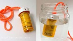 waterproof pill bottle container