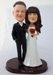Custom cake toppers anniversary gift Custom Cake Toppers, Custom Cakes, Eye Color, Hair Color, Bride And Groom Pictures, Photo Online, Anniversary Gifts, My Photos, Wedding