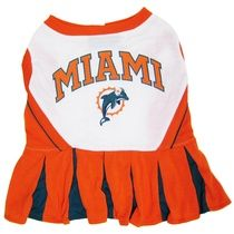 Miami Dolphins NFL Cheerleader Outfit for Dogs    Officially licensed Miami Dolphins NFL Cheerleader Outfit for Dogs!