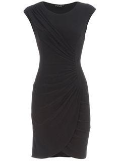 Dorothy Perkins Black slinky wrap dress, £32.00