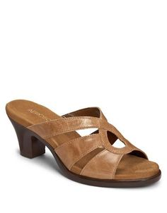 View our Turtle Dove Slide Heeled Sandal at Aerosoles. Shop our large variety of comfortable, fashionable, and affordable Women's Sandals Leather Sandals, Women's Shoes Sandals, Shoe Boots, Heeled Sandals, Tan Leather, Shoes Too Big, Pretty Shoes, Huarache, Shoe Wardrobe