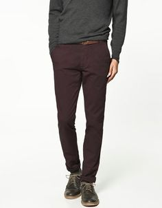 Love! And On Sale!!! Zara - Comfort Fit Chinos... Deeply dislike Chinos but the color is a must. Purpl. $29.99