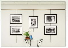 Picture Hanging System - alternative way to hang art to slat wall