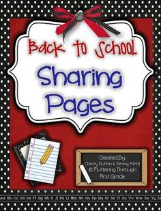 *Visit our store for other Sharing Page Units- complete with full instructions of our year long program, parent letters, schedules, and more!*S...