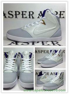 uk availability d8d46 9bbfe Masculino lobo cinzento Branco Nike Kobe 9 NSW Lifestyle