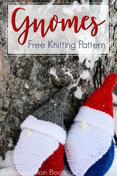Use This Free Gnome Knitting Pattern to Make a Christmas Gnome Such a fun free knitted gnome pattern! It's going to be fun to use this gnome knitting pattern to make a cute gift. Click through to see how easy this knitting pattern for gnomes really is. Knitted Christmas Decorations, Christmas Gnome, Holiday Decorations, Knit Christmas Ornaments, Easy Knitting, Knitting Patterns Free, Free Christmas Knitting Patterns, Knitting Toys, Simple Christmas
