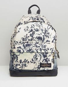 Image 1 ofEastpak House of Hackney Dalston Rose Print Backpack