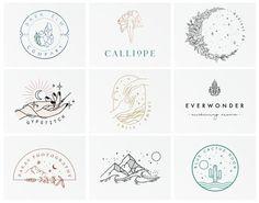 Graphic Design Branding, Custom Logo Design, Custom Logos, Hand Drawn Logo, Hand Logo, Monogram Logo, Logo Mano, Celestial, Moon Logo