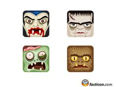 Free Icons: Classic Monsters Icons