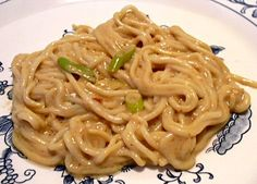 "TYLER'S SESAME ""NOODLES"": This sauce sounds great, but I will try this with either the zucchini noodles or some other pasta, because I really don't like the shirataki noodels Low Carb Noodles, Shirataki Noodles, Zucchini Noodles, No Carb Recipes, Healthy Recipes, Noodle Recipes, Healthy Foods, Low Carb Menus, Low Carb Keto"
