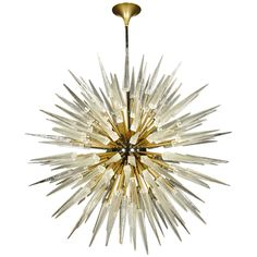 Rare pair of Murano glass chandeliers by Barovier e Toso