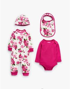 If you're hunting for a gift for a relative or friend's new arrival, look no further. This gift set comes beautifully packaged and includes a soft cotton jersey hat, bib, bodysuit and babygrow. Joules Baby Girl, Joules Girls, Joules Uk, Baby Girl Fashion, Kids Fashion, Cute Babies, Baby Kids, Baby Girl Gift Sets, Going Home Outfit