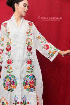 Batik Kebaya, Amarillis, Hungarian Embroidery, Abaya Style, Dress Neck Designs, Dress Sketches, Abaya Fashion, International Fashion, Hungary