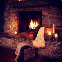 fireplace fire cozy relax on Instagram