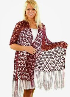 Kimono Top, Crochet Patterns, Cover Up, Tunic Tops, Dresses With Sleeves, Long Sleeve, Beautiful, Collection, Women