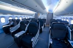 JAL's new business class on their new B787