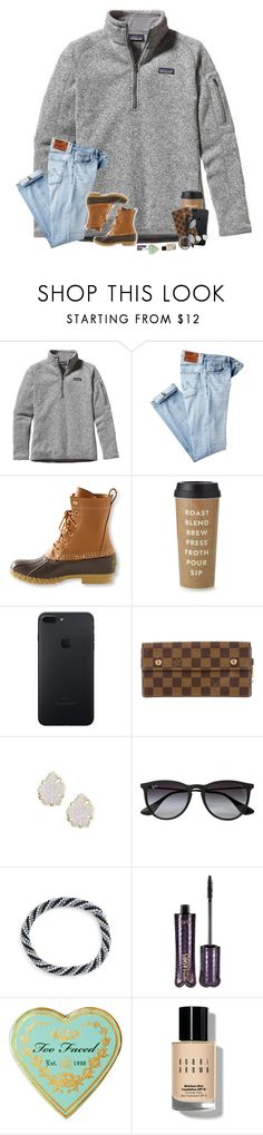 """happy Friday y'all!"" by hopemarlee ❤ liked on Polyvore featuring Patagonia, AG Adriano Goldschmied, L.L.Bean, Kate Spade, Louis Vuitton, Kendra Scott, Ray-Ban, Aid Through Trade, tarte and Bobbi Brown Cosmetics"
