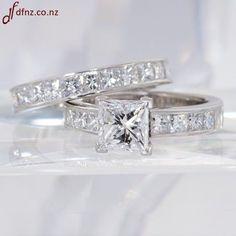 Tiffany Princess Cut wedding band sets | ... Channel Set Shoulders and Matching Princess Channel Set Wedding Ring