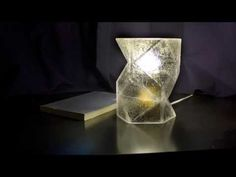 DIY home-made resin lampshade VOL. 2 [advanced mould-making] - YouTube