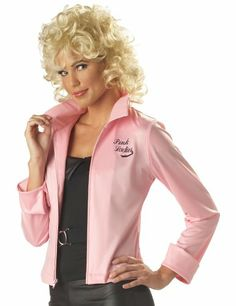 Grease Pink Lady Costumes. Pink Ladies satin jacket, 1950s accessories, Frenchy & Rizzo costumes and Makeup Tutorials.