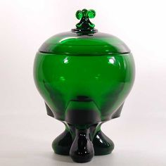 Viking Glass Evergreen Candy With Cover - Epic Three Foil - Mid Century - MFHT