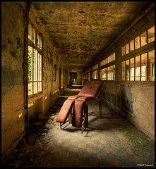 An abandoned hospital.