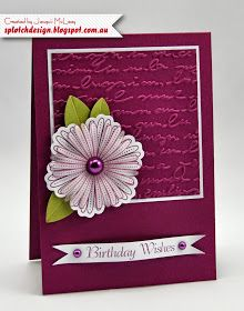 Splotch Design - Jacquii McLeay Independent Stampin' Up! Demonstrator: Mixed Bunch Birthday Card