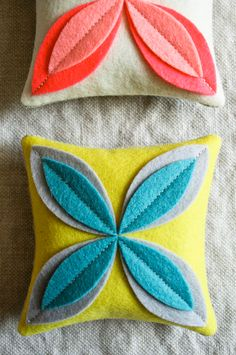 Corinnes Thread: Felt Flower Sachets - Knitting Crochet Sewing Crafts Patterns and Ideas! - the purl bee