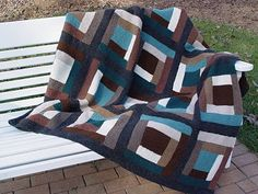 LOVE the color scheme for this!  I wish I had seen it before I started my log cabin blanket.  No pattern, but yarn colors in post.