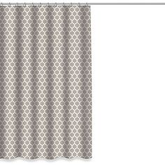 Let this Morocco Shower Curtain's beautiful Ikat design transform your bathroom into a designer showcase. The geometric pattern in soft taupe and white adds a look of understated elegance that works with any decor.