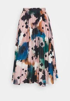 Marks & Spencer London FLORAL PLEAT SKIRT - A-line skirt - multicolor/multi-coloured - Zalando.de Tie Dye Skirt, Spencer, London, Fashion Updates, Fabric Material, A Line Skirts, Pleated Skirt, Mens Fashion, Moda Masculina
