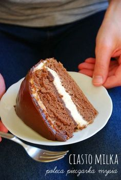 ciasto Milka7 Polish Cake Recipe, Polish Recipes, Healthy Dessert Recipes, Delicious Desserts, Cake Recipes, Sweets Cake, Something Sweet, Pavlova, Baked Goods