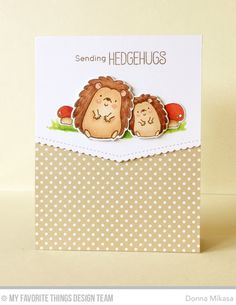 Happy Hedgehogs Stamp Set and Die-namics, Stitched Scallop Basic Edges Die-namics - Donna Mikasa  #mftstamps