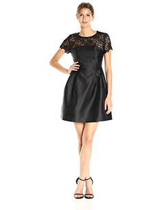 New Jessica Simpson Women's Solid Party Dress With Neck Trim online. Find the  great Julian Taylor Dresses from top store. Sku jxiq66841wmvq10609