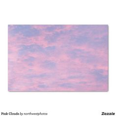 Pink Clouds Tissue Paper