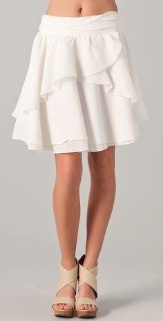 15 Elegant A Line Skirts Designs for Ladies - ShePlanet Peasant Skirt, Dress Skirt, Skirt Fashion, Fashion Outfits, Layered Skirt, White Skirts, Pretty Outfits, Pretty Clothes, A Line Skirts