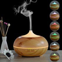 InnoGear® 300ml Aromatherapy Essential Oil Diffuser Wood Grain Ultrasonic Whisper Quite Cool Mist Aroma Humidifier with Timer Color Changing Lights Waterless Auto Shut Off for Home Office Bedroom Baby  GO TO www.homengardentips.info, in Category Home and Garden (InnoGear Essential Diffuser)