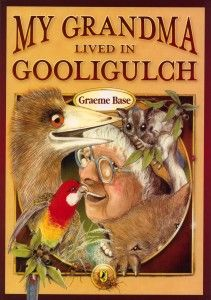 My Grandma Lived in Gooligulch,  features Australian animals, travel and a lot of fun, along with rollicking rhyme which plays on Australian place names.  It's one of our dozen Australian books we'd want every child to have as part of their library.